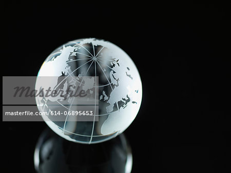 Glass Globe illustrating North America, Europe, Russia and Africa Stock Photo - Premium Royalty-Free, Image code: 614-06895653