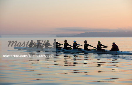 Nine people rowing Stock Photo - Premium Royalty-Free, Image code: 614-06897799