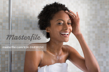 Woman relaxing after bath Stock Photo - Premium Royalty-Free, Image code: 614-06898150