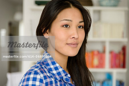 Close up portrait of woman Stock Photo - Premium Royalty-Free, Image code: 614-06898514