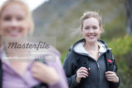 Two girls hiking Stock Photo - Premium Royalty-Free, Image code: 614-06973779