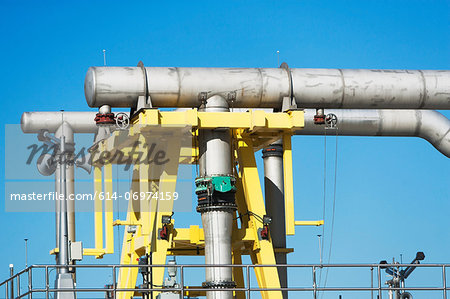 Pipes in water treatment plant Stock Photo - Premium Royalty-Free, Image code: 614-06974159