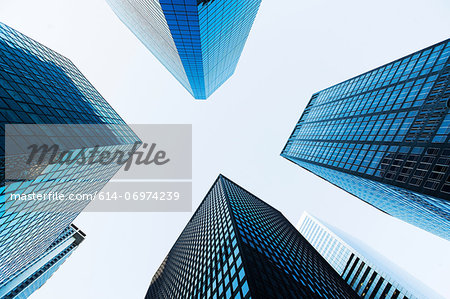 Low angled view of skyscrapers Stock Photo - Premium Royalty-Free, Image code: 614-06974239