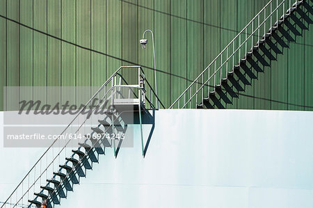 Metal stairway and industrial structure Stock Photo - Premium Royalty-Free, Image code: 614-06974243