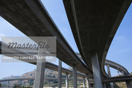 Highway overpass in Los Angeles, California, USA Stock Photo - Premium Royalty-Free, Image code: 614-06974425