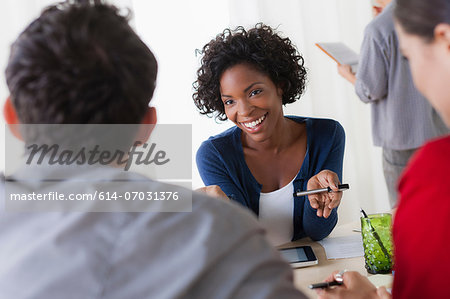 Colleagues meeting in office Stock Photo - Premium Royalty-Free, Image code: 614-07031376
