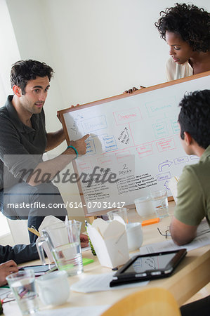 Colleagues presenting ideas in office Stock Photo - Premium Royalty-Free, Image code: 614-07031417