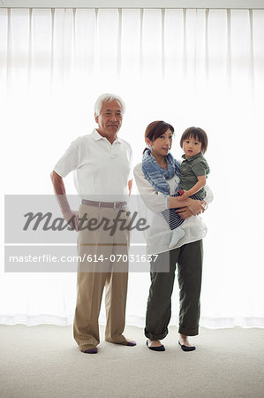 Three generation family, portrait Stock Photo - Premium Royalty-Free, Image code: 614-07031637