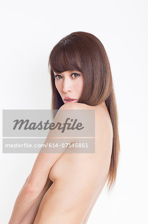 Portrait of topless woman Stock Photo - Premium Royalty-Free, Image code: 614-07145851