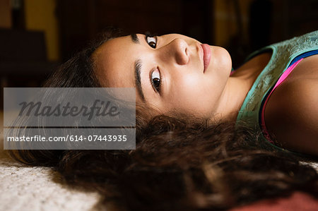 Portrait of teenage girl Stock Photo - Premium Royalty-Free, Image code: 614-07443935