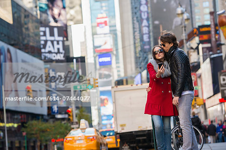 Young couple on vacation, New York City, USA Stock Photo - Premium Royalty-Free, Image code: 614-07444077