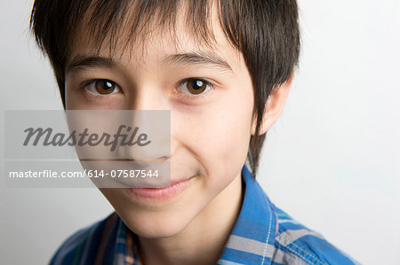Portrait of boy Stock Photo - Premium Royalty-Free, Image code: 614-07587544