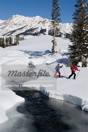 Cross-country Skiing Stock Photo - Premium Royalty-Free, Image code: 618-01426299