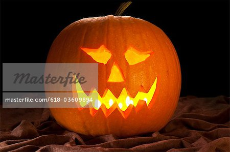 Halloween pumpkin Stock Photo - Premium Royalty-Free, Image code: 618-03609894