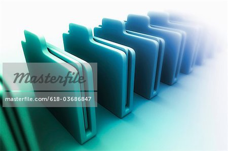 Row of folders Stock Photo - Premium Royalty-Free, Image code: 618-03686847