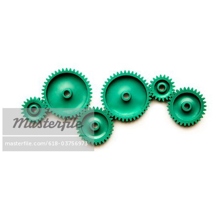 Green Gears Stock Photo - Premium Royalty-Free, Image code: 618-03756973