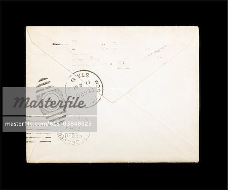 Old, dirty envelope Stock Photo - Premium Royalty-Free, Image code: 618-03848623