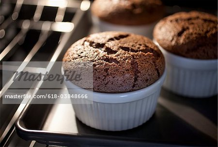 Chocolate Souffles Stock Photo - Premium Royalty-Free, Image code: 618-03848666