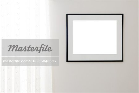 Blank Black Frame Stock Photo - Premium Royalty-Free, Image code: 618-03848683