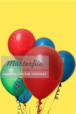 Vibrant Party Balloon Arrangement Stock Photo - Premium Royalty-Free, Image code: 618-03906613