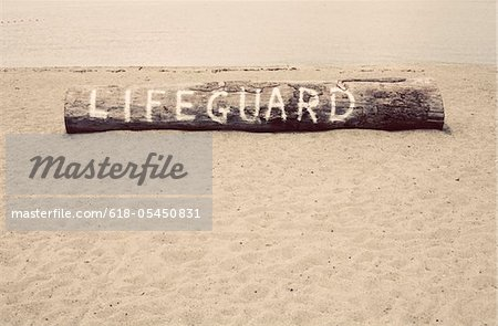 Lifeguard log Stock Photo - Premium Royalty-Free, Image code: 618-05450831