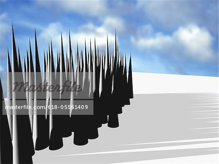 CG rendering, Column Stock Photo - Premium Royalty-Free, Image code: 618-05551409