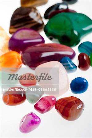semiprecious gemstones Stock Photo - Premium Royalty-Free, Image code: 618-05605366