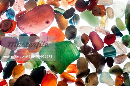 semiprecious gemstones Stock Photo - Premium Royalty-Free, Image code: 618-05605372