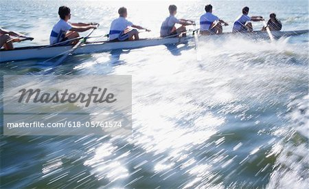 Athletes in a crew long canoe Stock Photo - Premium Royalty-Free, Image code: 618-05761574