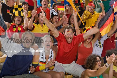 German fans at soccer game in Cape Town, South Africa Stock Photo - Premium Royalty-Free, Image code: 618-05800165
