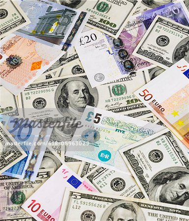 Banknotes Stock Photo - Premium Royalty-Free, Image code: 618-05963029