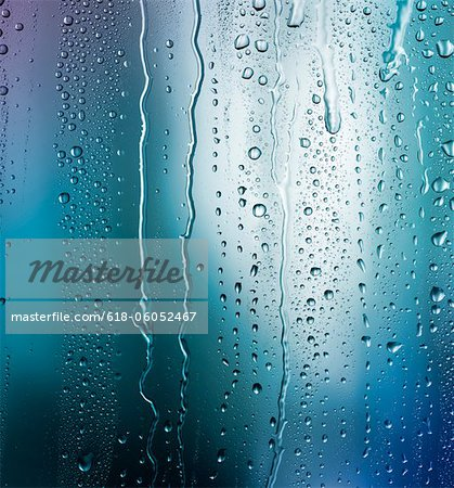Bright blue condensation Stock Photo - Premium Royalty-Free, Image code: 618-06052467