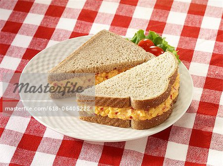Pimiento Cheese sandwich on wheat bread Stock Photo - Premium Royalty-Free, Image code: 618-06405222