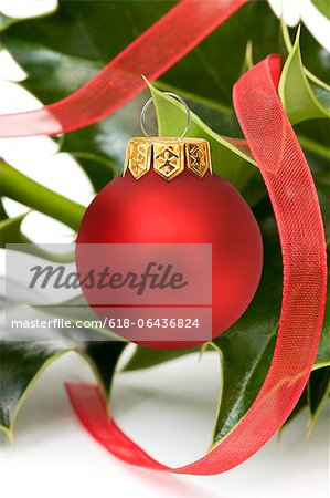 Festive Holly Stock Photo - Premium Royalty-Free, Image code: 618-06436824