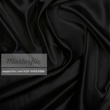 Black piece of satin cloth Stock Photo - Premium Royalty-Free, Image code: 618-06503486
