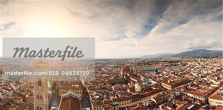 from top of duomo in florence Stock Photo - Premium Royalty-Free, Image code: 618-06538730