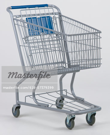 Empty grocery cart Stock Photo - Premium Royalty-Free, Image code: 618-07379399