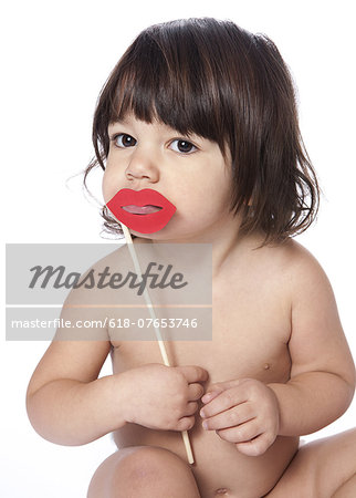 Sofia and lips Stock Photo - Premium Royalty-Free, Image code: 618-07653746