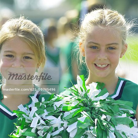 Little Cheerleaders Stock Photo - Premium Royalty-Free, Image code: 621-00745496