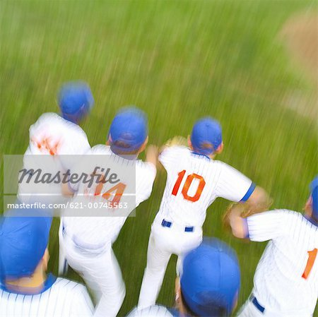 Pee Wee Football League Action Stock Photo - Premium Royalty-Free, Image code: 621-00745563
