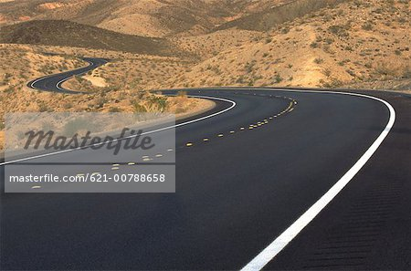 Open Road in the Desert Stock Photo - Premium Royalty-Free, Image code: 621-00788658