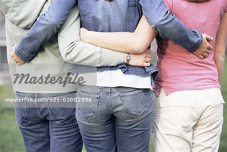 Back View of Affectionate Girlfriends Stock Photo - Premium Royalty-Free, Image code: 621-01002896