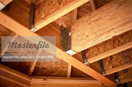 wood frame construction stock photo