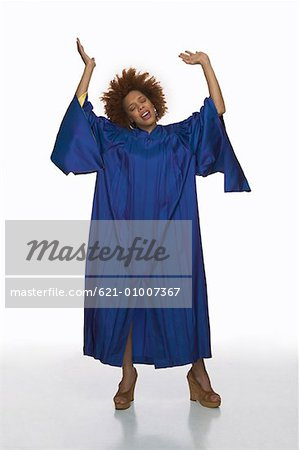 Gospel Singer in Energetic Posture Stock Photo - Premium Royalty-Free, Image code: 621-01007367
