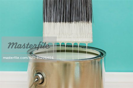 Paint brush dipped in paint canStock Photos Masterfile