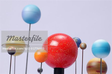 Model of planets Stock Photo - Premium Royalty-Free, Image code: 621-01776085
