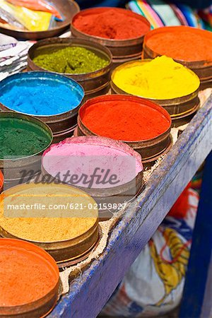 Canisters of natural dyes Stock Photo - Premium Royalty-Free, Image code: 621-02159827