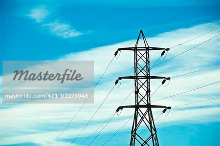 Electrical pylons Stock Photo - Premium Royalty-Free, Image code: 621-02279046
