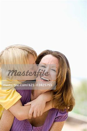 Mother and son embracing Stock Photo - Premium Royalty-Free, Image code: 621-02425755