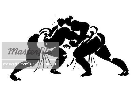 Wrestlers Fighting Stock Photo - Premium Royalty-Free, Image code: 622-06190890